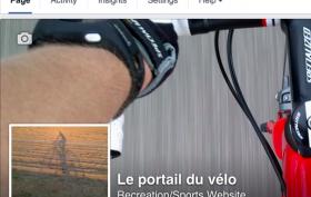 Page Facebook Portail du vélo
