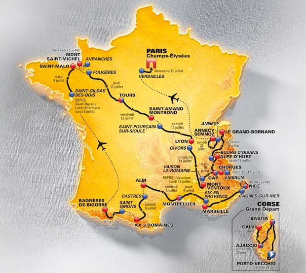 carte-tour-de-france-2013