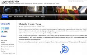 Screenshot portail du vélo v1