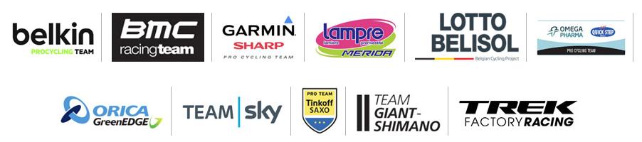 Les 11 équipes intégrées dans Velon