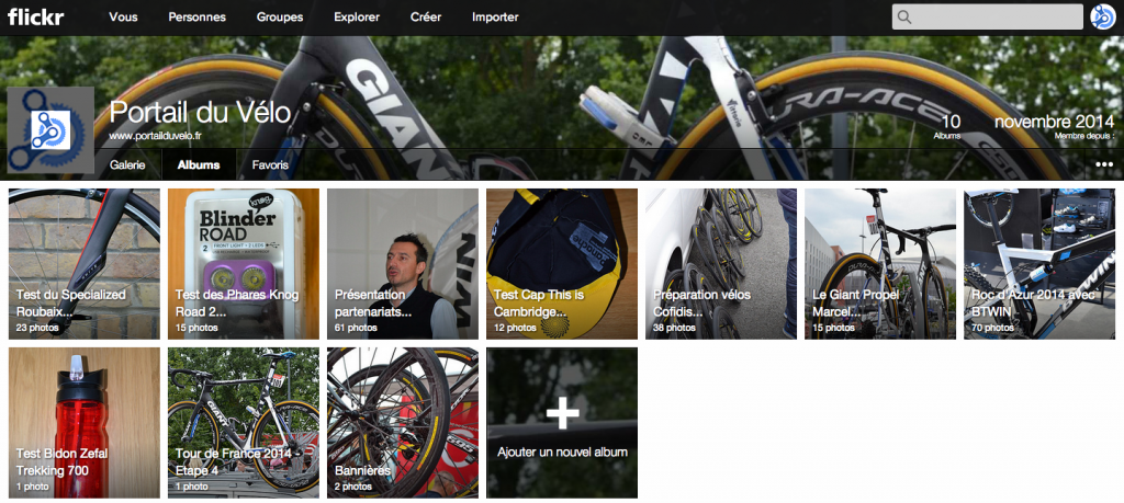 Compte Flickr Portail du vélo