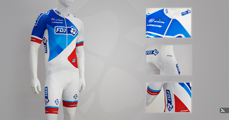Tenue B'Twin FDJ 2015