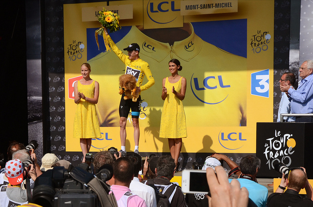 Froome maillot jaune
