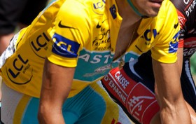 Contador on Col d'Aubisque