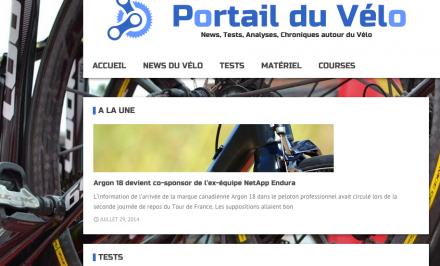 Screenshot Portail du vélo v2
