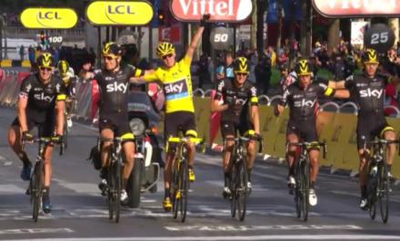 Victoire Team Sky Tour de France 2015